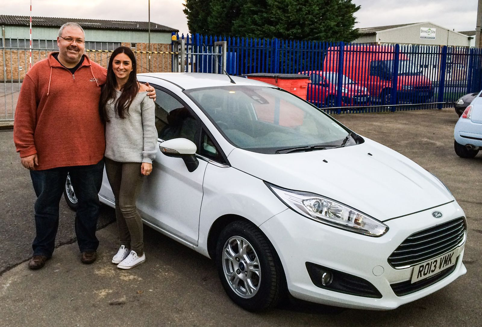 happy customer Lianne and Dad
